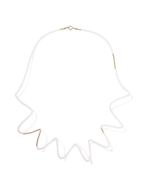 Lucy Folk - White Snake Charmer 18-karat Gold Pearl Necklace - Lyst