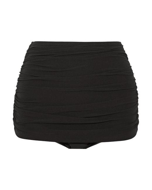 Norma Kamali - Black Bill Ruched Bikini Briefs - Lyst