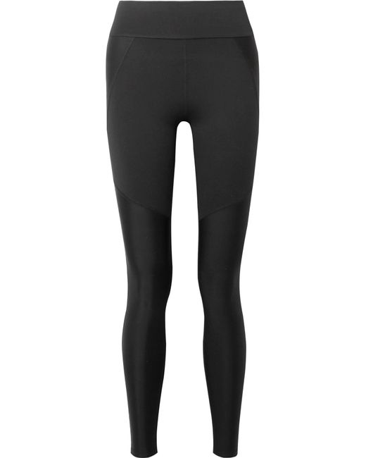 Live The Process - Black Block Paneled Stretch-supplex Leggings - Lyst