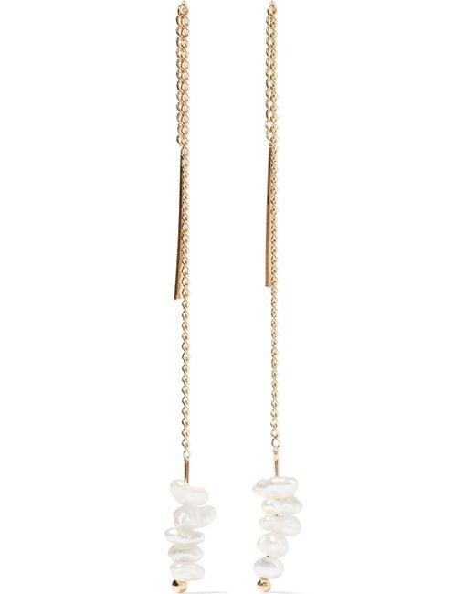 Melissa Joy Manning | Metallic 14-karat Pearl Earrings | Lyst