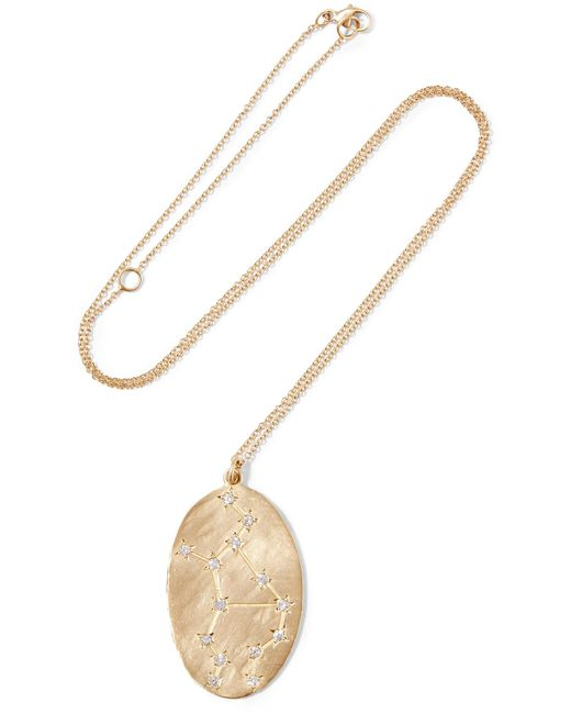 Brooke Gregson - Metallic Virgo 14-karat Gold Diamond Necklace - Lyst