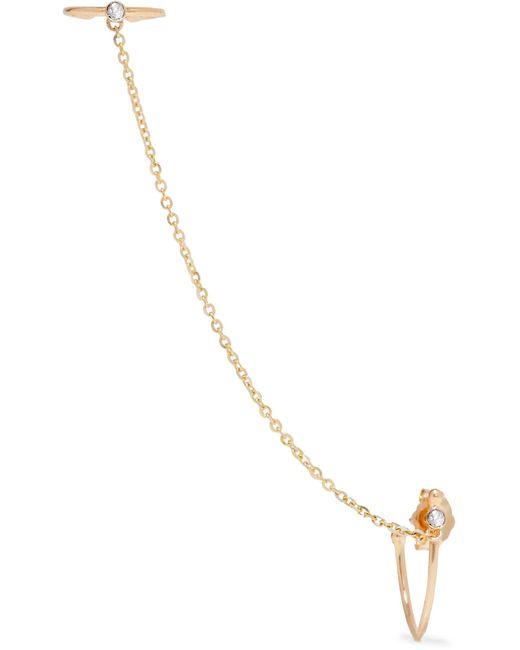Loren Stewart   Metallic 14-karat Gold Diamond Ear Cuff   Lyst
