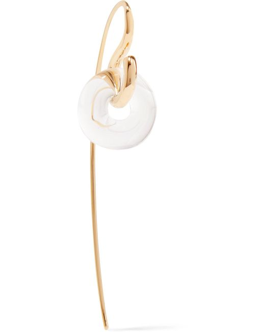 Charlotte Chesnais - Metallic Swing Gold-dipped And Glass Earring - Lyst