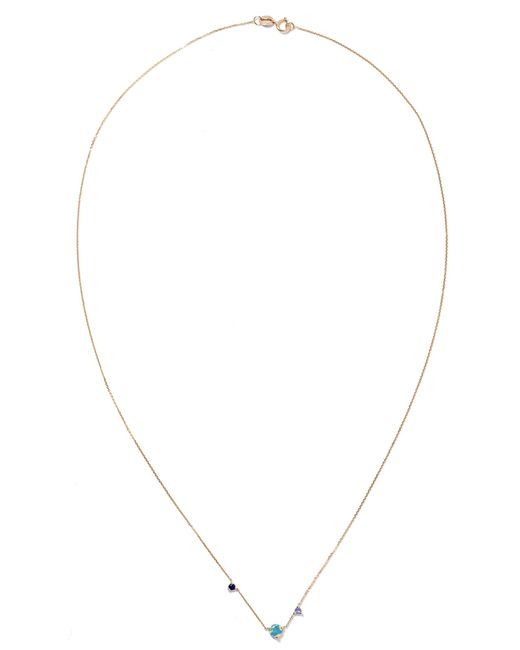 Wwake - Metallic Three Step Gold Multi-stone Necklace Gold One Size - Lyst