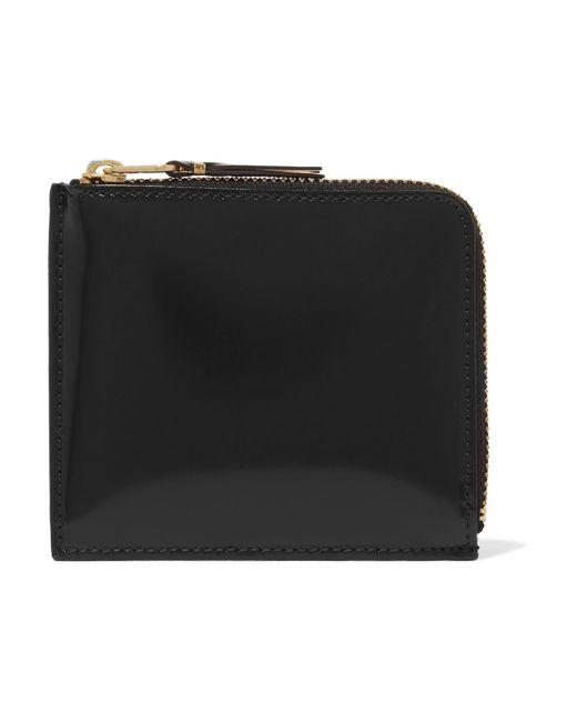 Comme des Garçons - Black Glossed-leather Wallet - Lyst