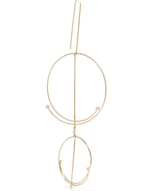 Grace Lee Designs Linear Whisper 14-karat Gold Diamond Earring 0iv3DQI8Y