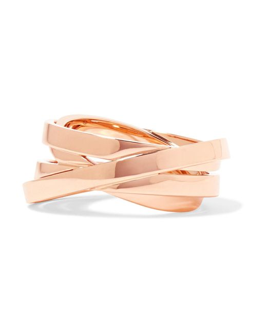 Repossi | Multicolor Technical Berbère 18-karat Rose Gold Ring | Lyst