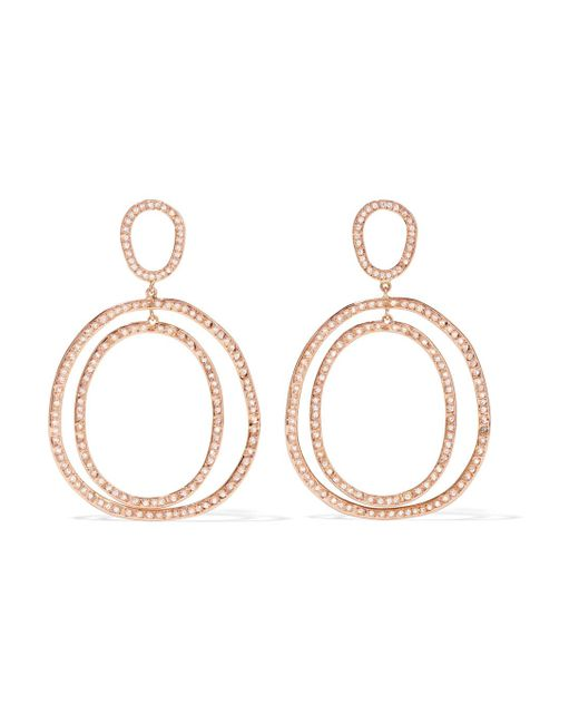 Ileana Makri - Metallic Again Double 18-karat Rose Gold Diamond Earrings - Lyst