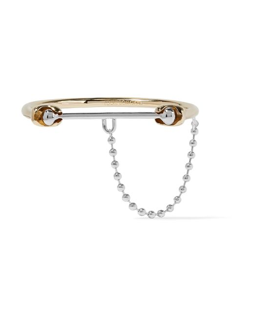 Eddie Borgo | Metallic Silver And Gold-tone Bracelet | Lyst