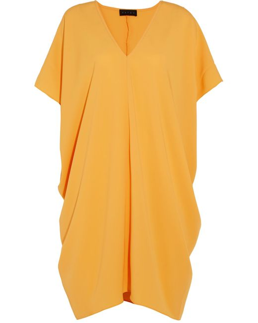 HATCH | Yellow Slouch Draped Crepe Dress | Lyst