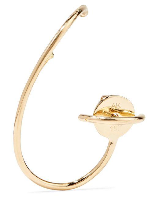Ana Khouri - Metallic Lily 18-karat Gold Earring - Lyst