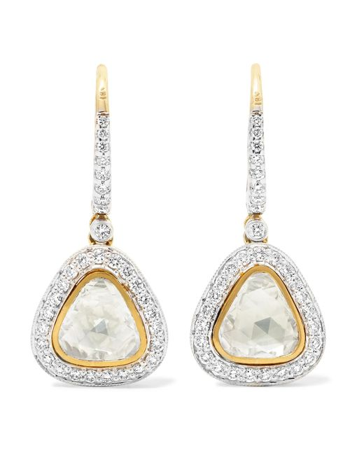 Amrapali - Metallic 18-karat Gold Diamond Earrings - Lyst