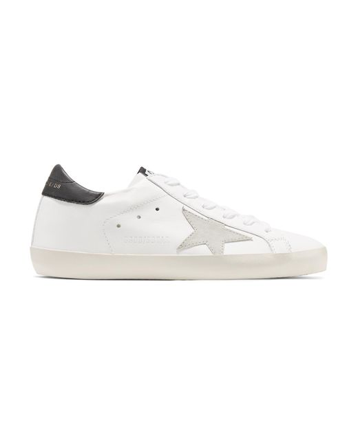 Golden Goose Deluxe Brand - White Superstar Leather And Suede Sneakers - Lyst