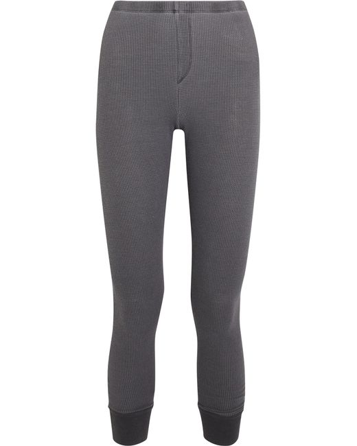Splendid | Gray Nordic Waffle-knit Stretch-micro Modal And Cotton Blend Leggings | Lyst