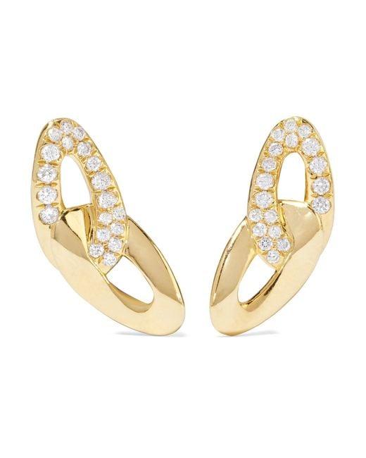 Ippolita | Metallic Cherish Bond 18-karat Gold Diamond Earrings | Lyst