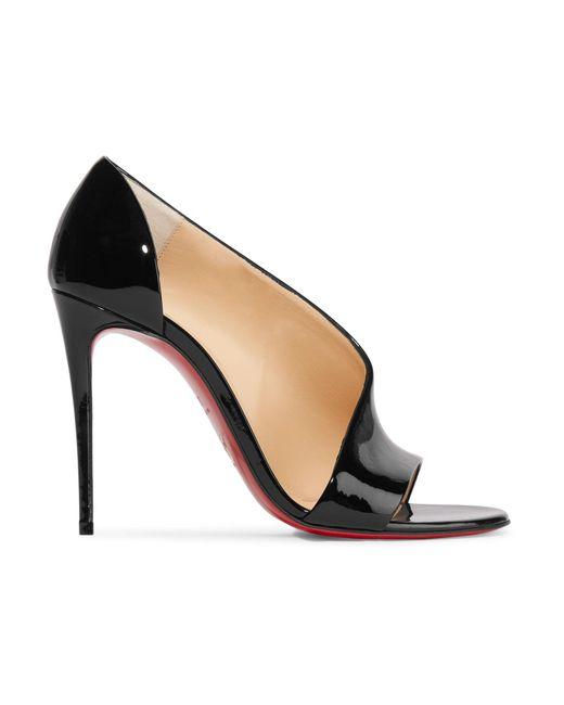 Christian Louboutin - Black Phoebe 100 Patent-leather Pumps - Lyst