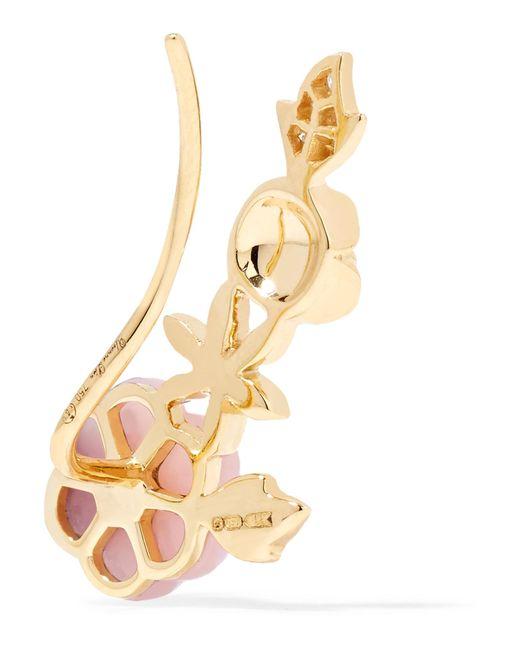 Yvonne Léon 18-karat Gold, Diamond And Opal Earring