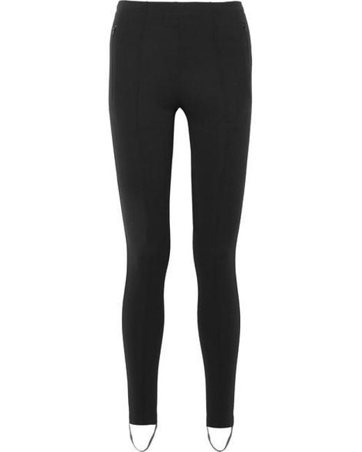 ad2d65cbc5 Balenciaga - Black Jogger Fuseau Stretch-ponte Stirrup Leggings - Lyst ...