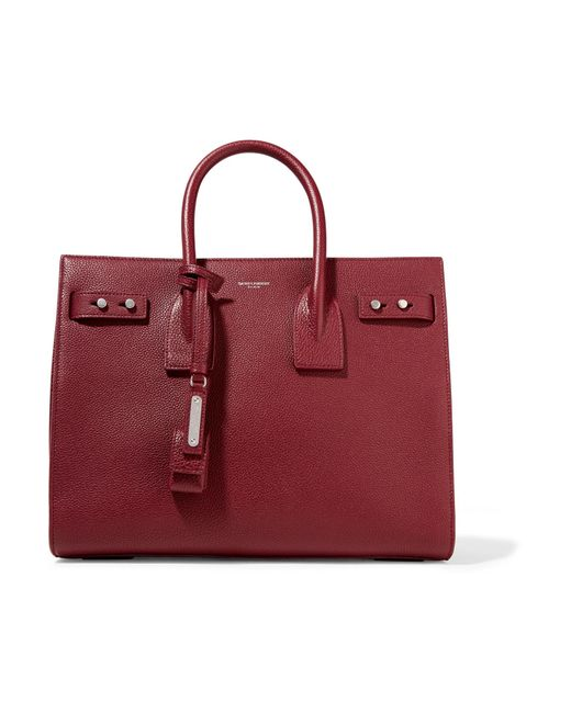 Saint Laurent - Red Sac De Jour Small Croc-Embossed Leather Tote - Lyst