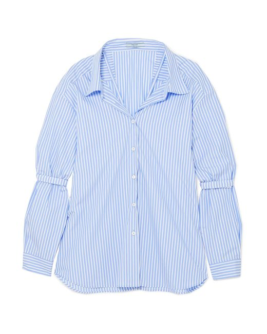 Prada | Blue Oversized Striped Cotton-poplin Shirt | Lyst