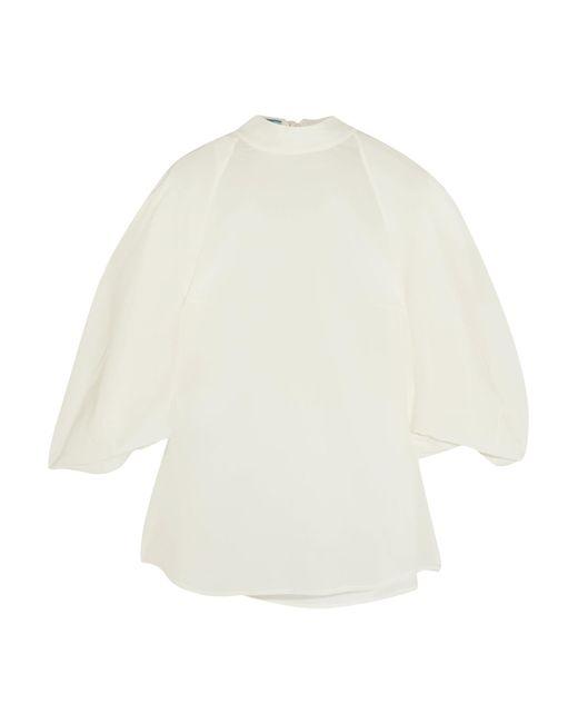 Prada - White Silk Crepe De Chine Blouse - Lyst