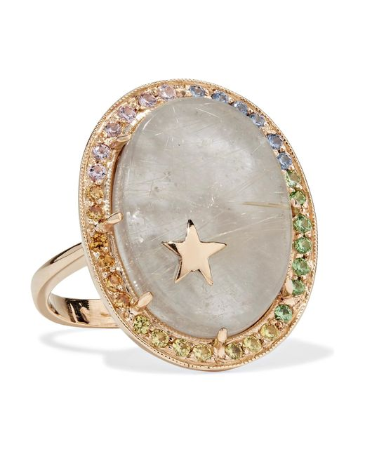 Andrea Fohrman - Metallic 14-karat Gold Multi-stone Ring - Lyst