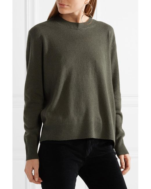 Vince Cashmere Sweater in Green | Lyst