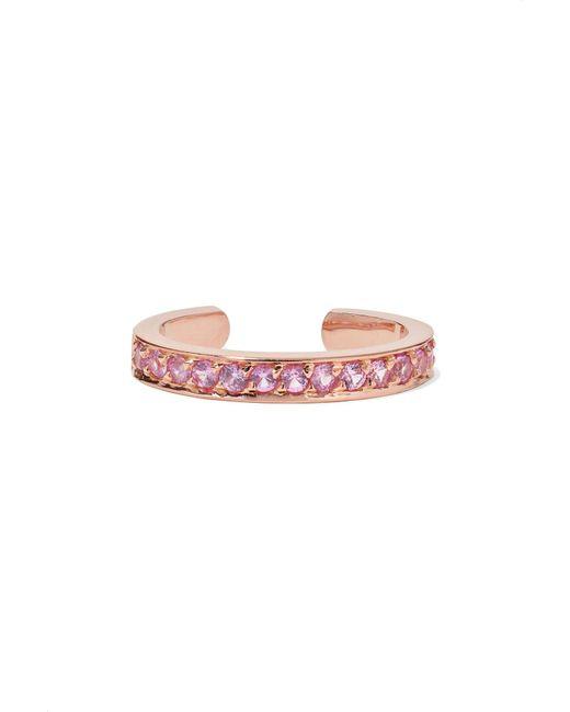 Anita Ko - Pink 18-karat Rose Gold Sapphire Ear Cuff - Lyst