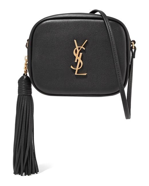 06d2dc4625 Saint Laurent - Black Monogramme Blogger Leather Shoulder Bag - Lyst ...