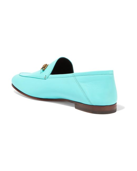 212c22e0b0b ... Gucci - Blue Horsebit-detailed Leather Loafers - Lyst ...
