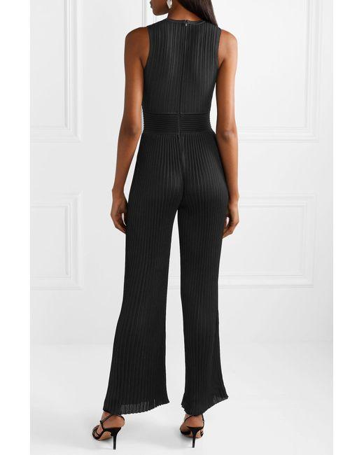 da97b022534 ... Balmain - Black Ribbed-knit Jumpsuit - Lyst ...