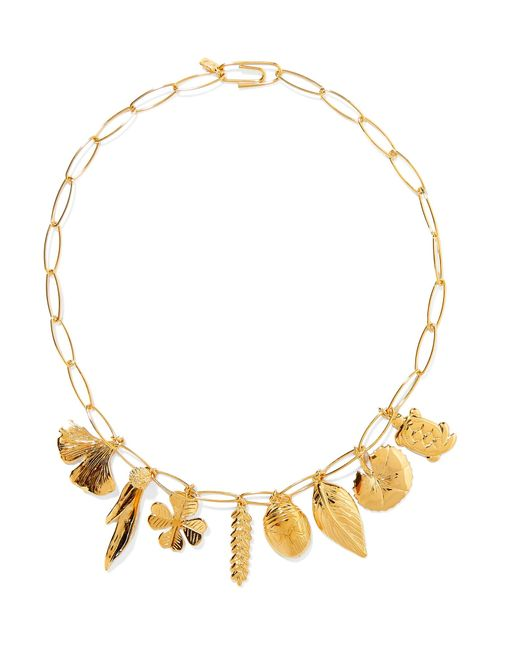 Aurelie Bidermann | Metallic Aurélie Gold-plated Charm Necklace | Lyst