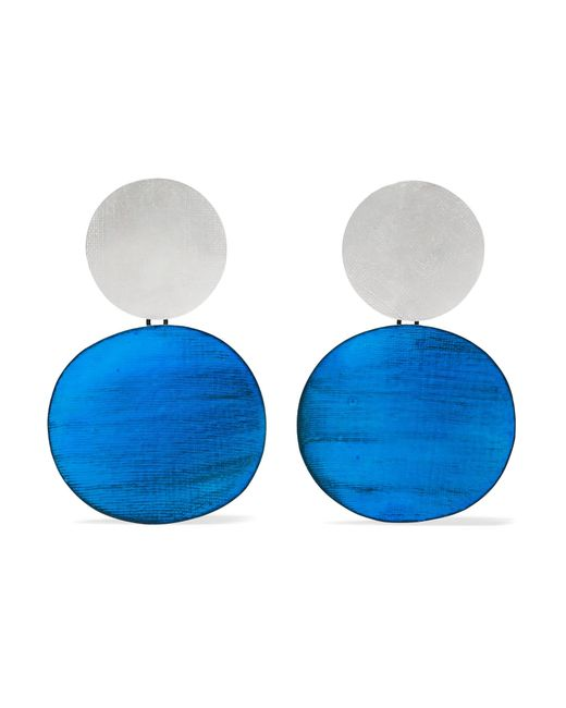 Annie Costello Brown | Blue Skye Oxidized Silver Earrings | Lyst