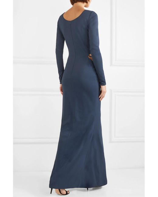 Bianca Cutout Embellished Stretch-jersey Gown - Navy Haney Discount Latest Collections SG0SbfDX