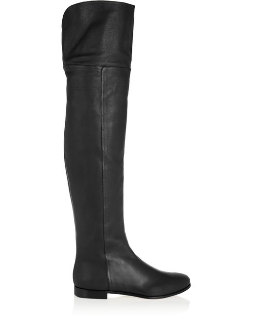 Jimmy Choo | Black Mitty Textured-leather Over-the-knee Boots | Lyst