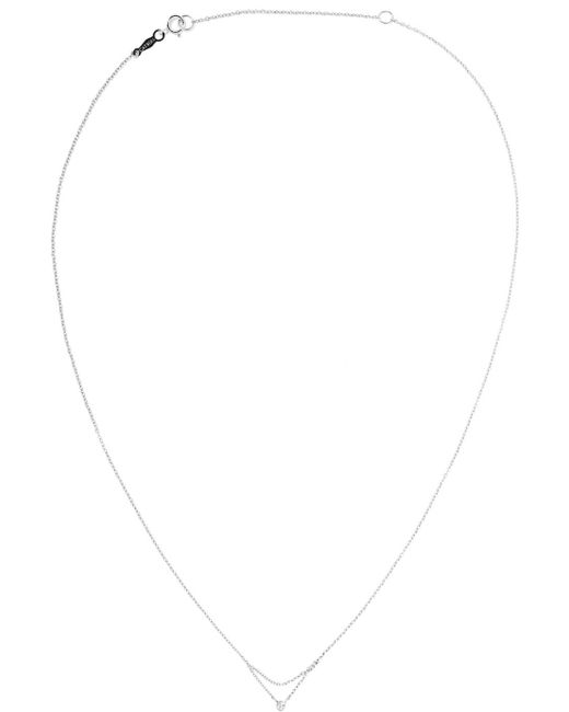 Catbird - Multicolor Chained To My Heart 14-karat White Gold Diamond Necklace - Lyst
