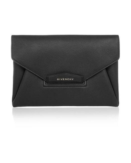 8499ffb112d Givenchy Antigona Medium Leather Envelope Clutch Bag in Black - Save ...