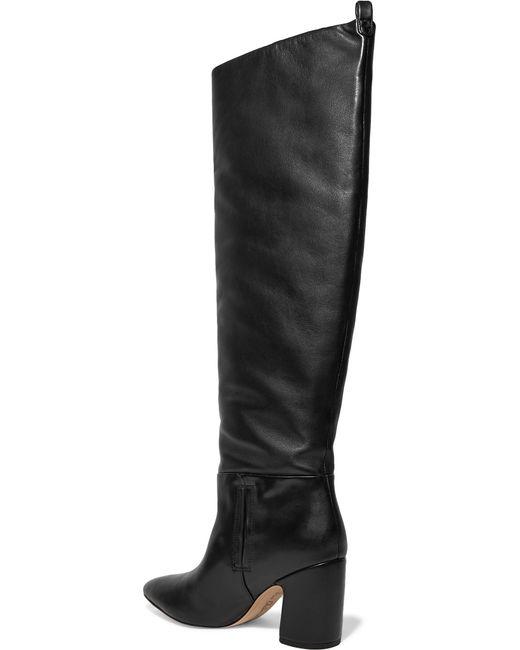 1b29109158e9 ... Sam Edelman - Black Hutton Leather Knee Boots - Lyst ...