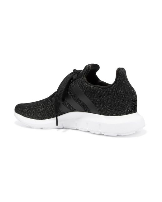 Swift Run Glittered Primeknit Sneakers - Black adidas Originals 98hNvA