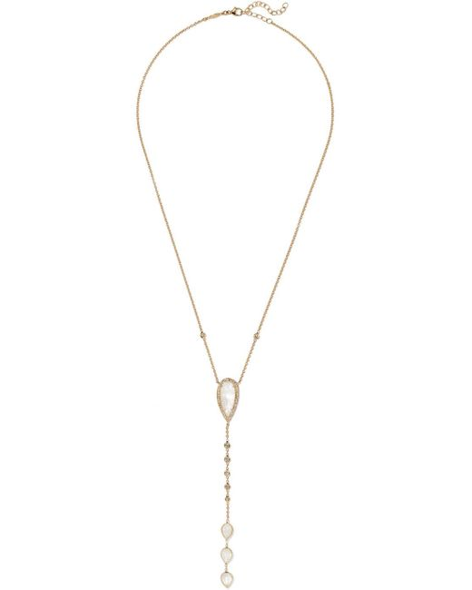 Jacquie Aiche - Metallic 14-karat Gold, Moonstone And Diamond Necklace - Lyst