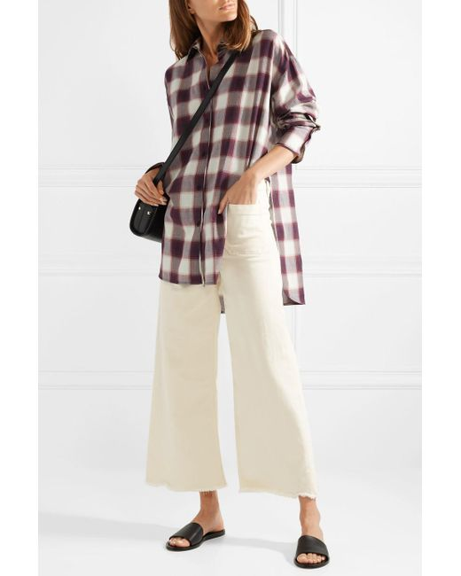 Discount Outlet Clive Oversized Checked Cotton Shirt - Purple Elizabeth & James Grey Outlet Store Online Buy Cheap Many Kinds Of Outlet 100% Authentic pe0KZ