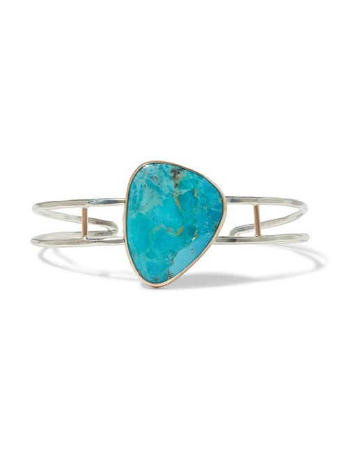 Melissa Joy Manning | Blue 14-karat Gold, Sterling Silver And Turquoise Cuff | Lyst
