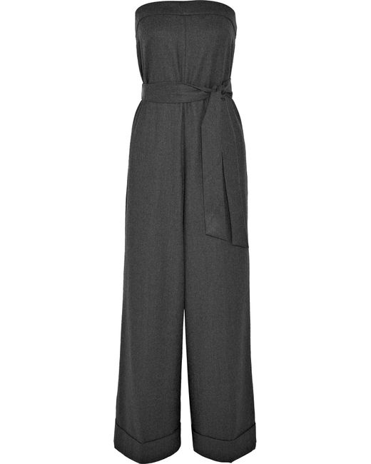 J.Crew - Gray Draft Strapless Wool Jumpsuit - Lyst