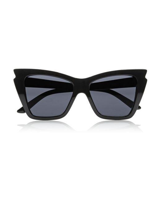 Le Specs - Black Rapture Cat-eye Acetate Sunglasses - Lyst