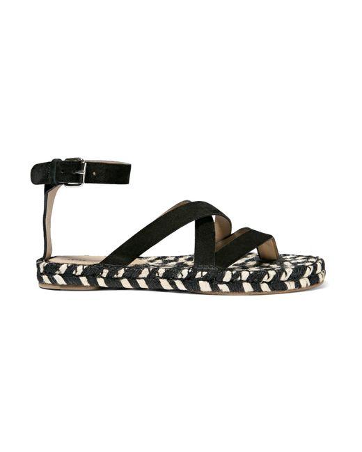 Proenza Schouler | Black Suede Espadrille Sandals | Lyst