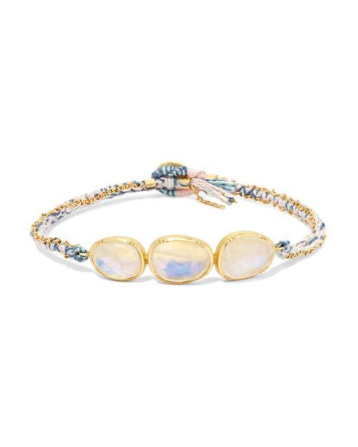 Brooke Gregson - Metallic Orbit 18-karat Gold Moonstone Bracelet - Lyst