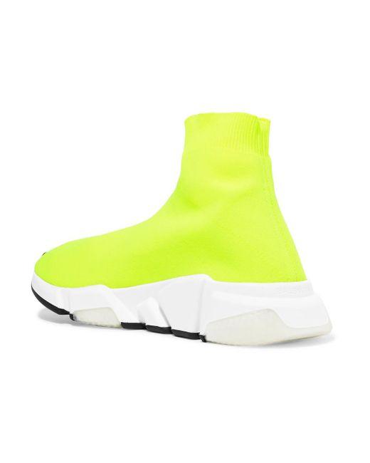 yellow Speed neon knitted sneakers - Yellow & Orange Balenciaga wjIhet
