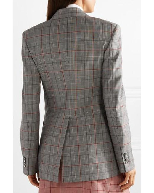 83c58499439e ... CALVIN KLEIN 205W39NYC - Gray Double-breasted Prince Of Wales Checked  Wool Blazer - Lyst ...