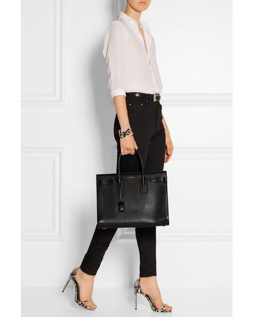 b8db02d1e76 ... Saint Laurent - Black Sac De Jour Medium Leather Tote - Lyst ...