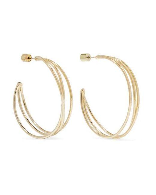 Jennifer Fisher - Metallic Triple Thread Gold-plated Hoop Earrings - Lyst